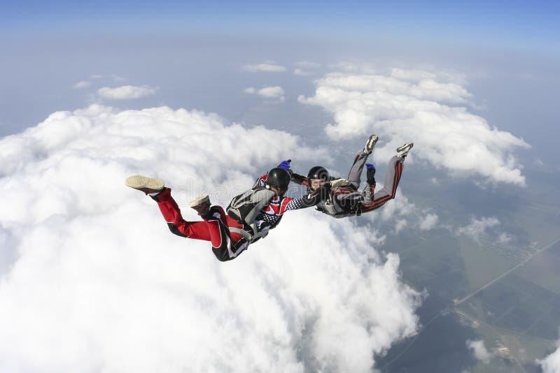 Photo de parachutisme. photos libres de droits