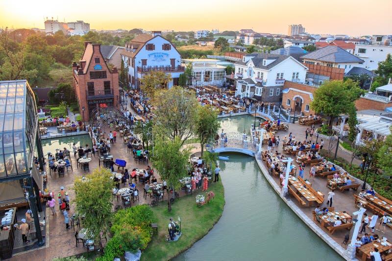 Photo de paysage de chocolat Ville Le restaurant pour le tourisme à Bangkok, Thaïlande images stock