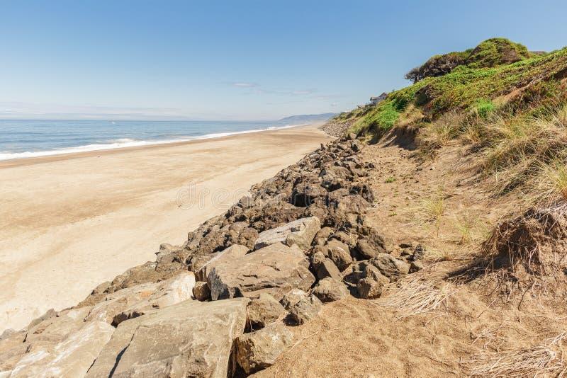 Photo de paysage de la côte de l'océan pacifique photographie stock