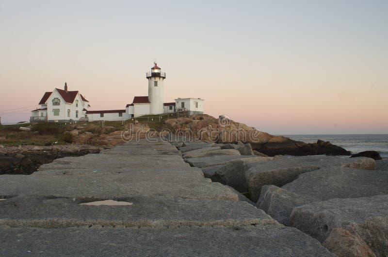 Photo de phare oriental de point en Nouvelle Angleterre image stock
