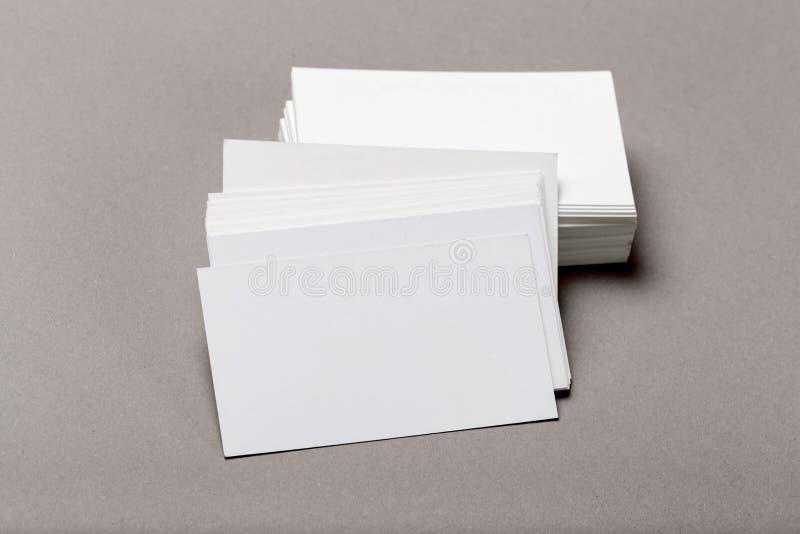 Photo de pile de cartes de visite professionnelle de visite Calibre pour l'identité de marquage à chaud photo stock