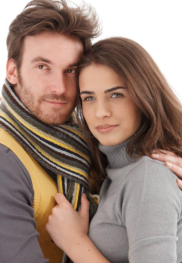 Photo de plan rapproché des couples affectueux attrayants images libres de droits