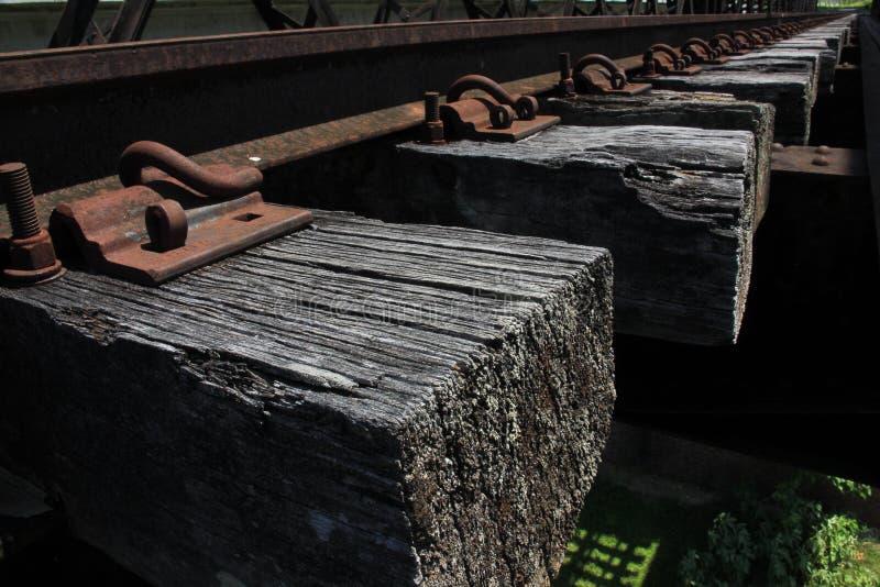 Photo de plan rapproché du bord de la voie de chemin de fer images libres de droits