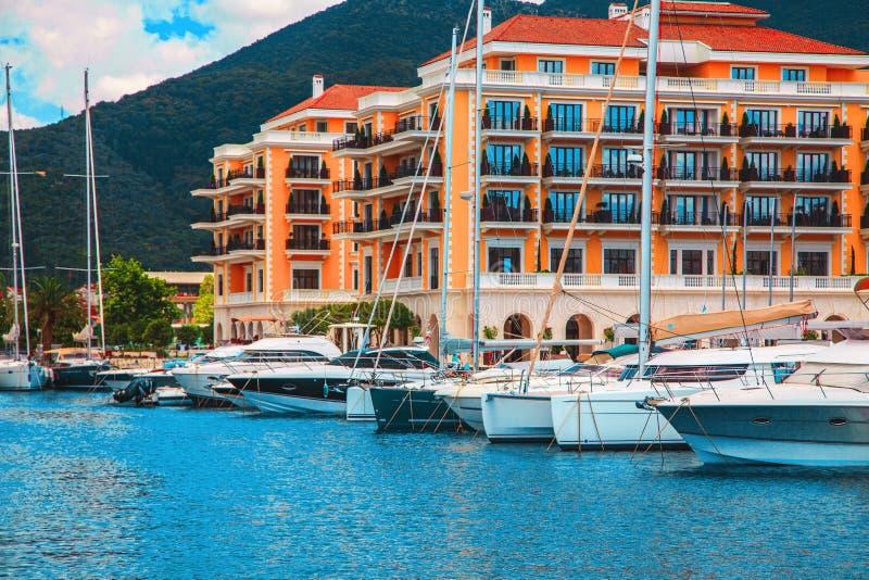 Photo de port de yacht image stock