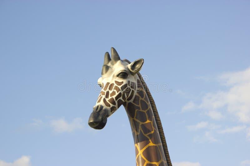 Photo de portrait de tête de girafe de jouet photo libre de droits