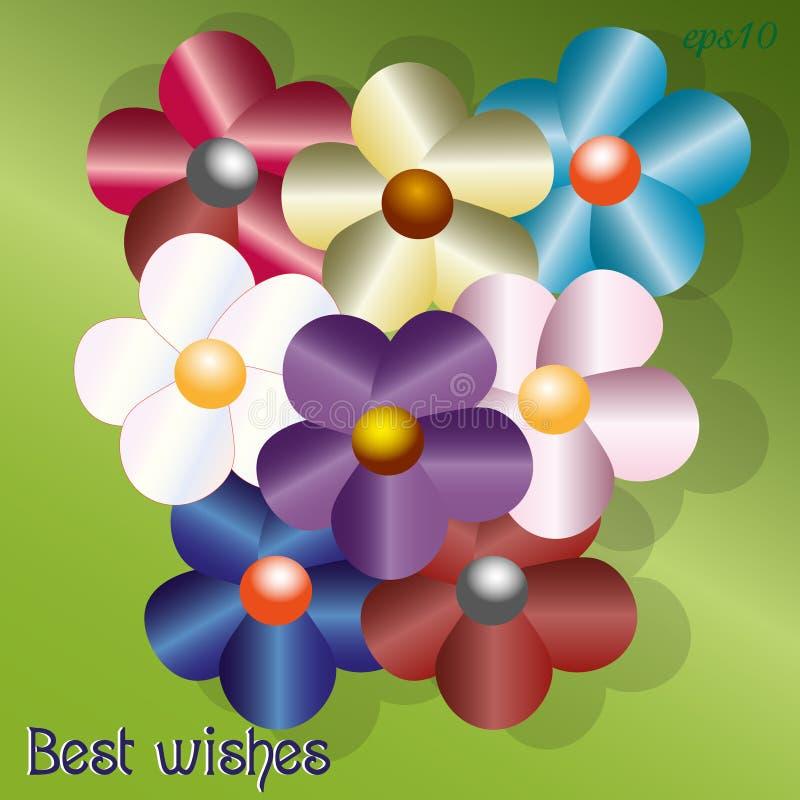 Photo de salutations de bouquet illustration libre de droits