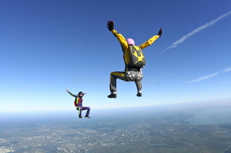 Photo de Skydiving. image stock