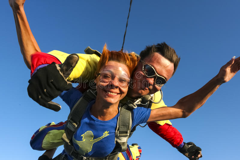 Photo de Skydiving. Tandem. image libre de droits