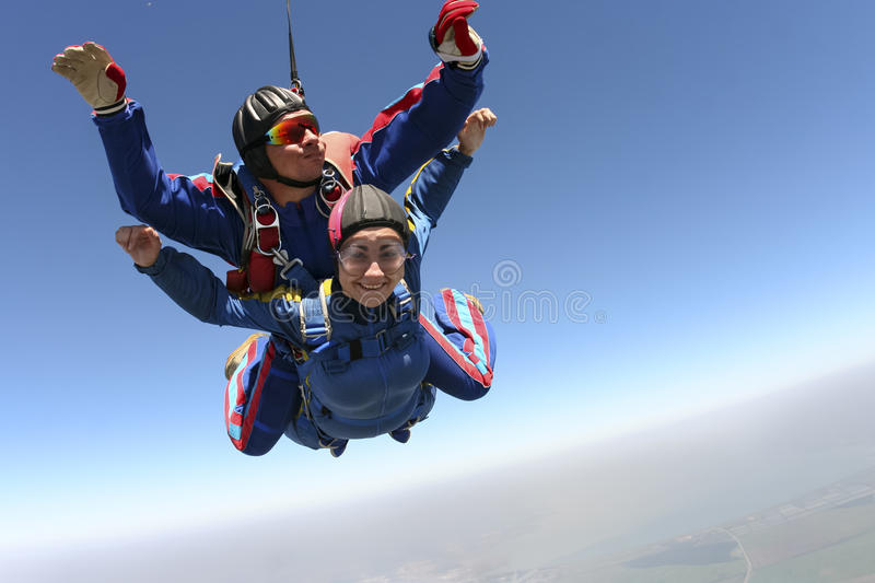 Photo de Skydiving. Tandem. photos stock