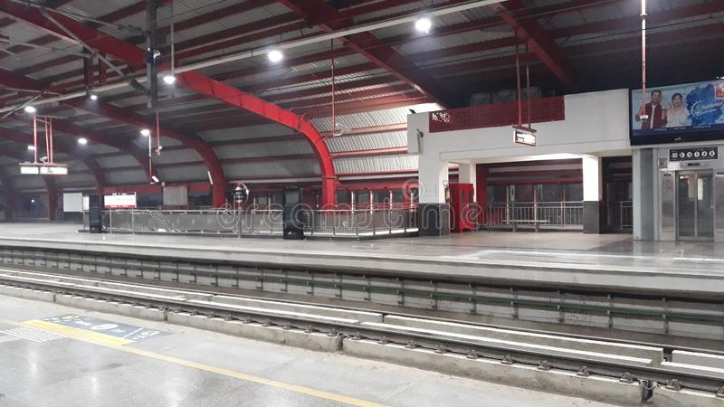 Photo de station de métro image stock