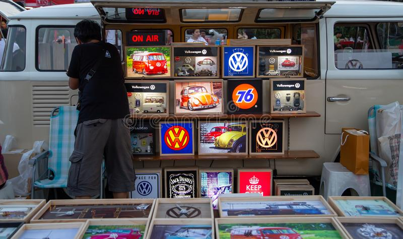Photo de vente de Volkswagen van owner et collectable de volkswagen image libre de droits