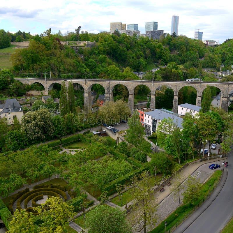 Photo de viaduc du luxembourgeois image stock
