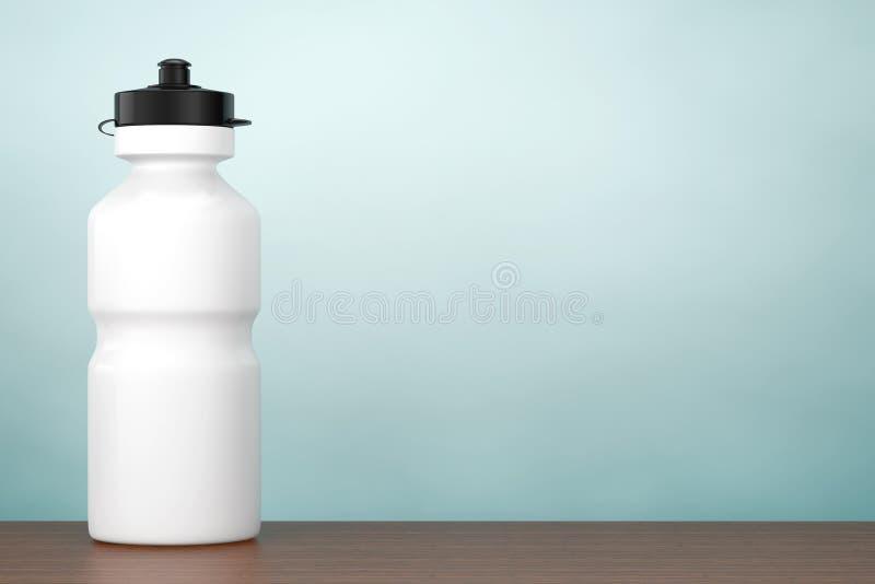 Photo de vieux type Bouteille d'eau blanche de plastique de sport rendu 3d illustration libre de droits