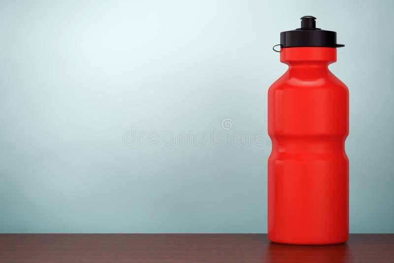 Photo de vieux type Bouteille d'eau rouge de plastique de sport rendu 3d illustration de vecteur
