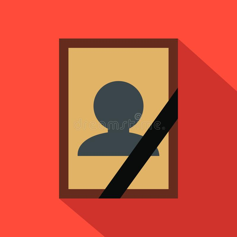 Photo of deceased flat icon royalty free illustration