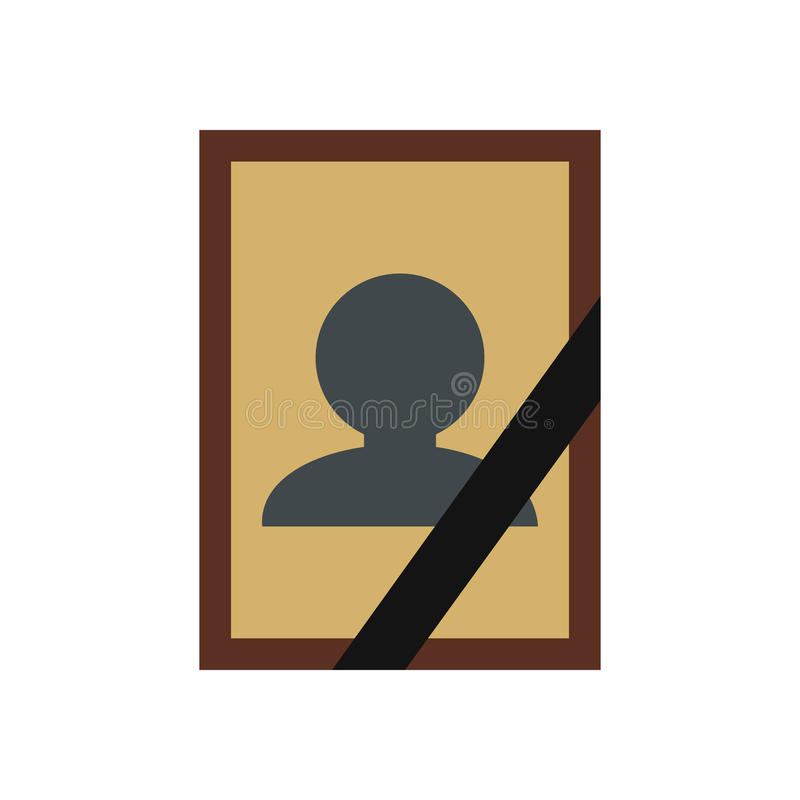 Photo of deceased icon vector illustration