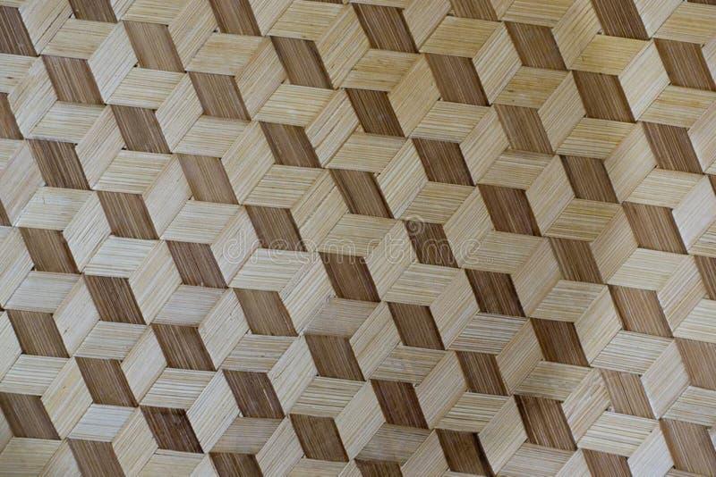 Photo of a decorative art piece with geometrical seamless pattern. stock image