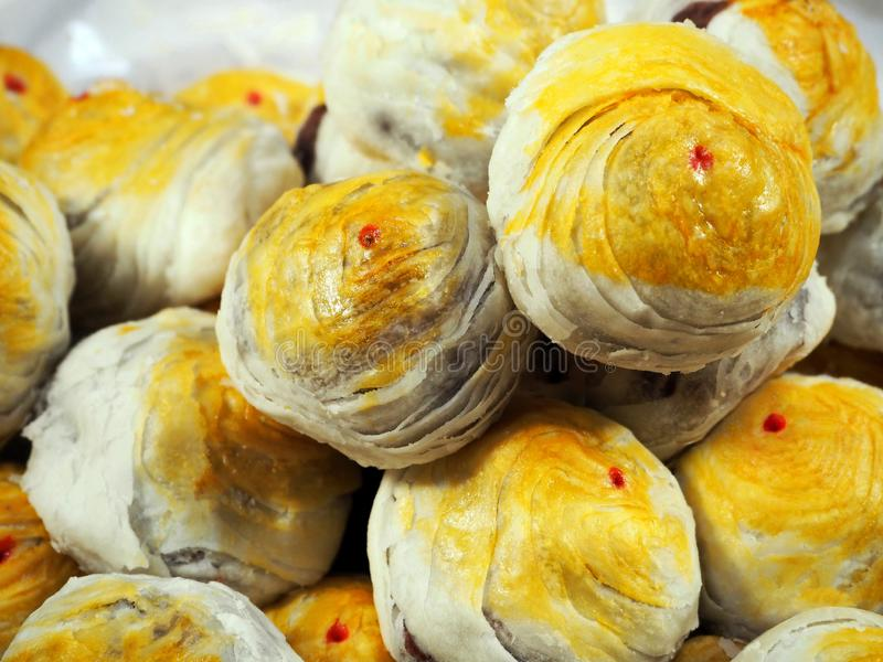 Chinese Pastries/Chinese Moon Cakes. Photo of Delicious Chinese Pastries/Chinese Moon Cakes at the Annual Chinese Festival stock image