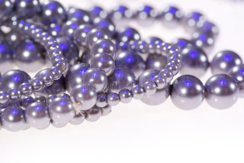 Photo des bijoux précieux Collier de plan rapproché gris de perles photo libre de droits