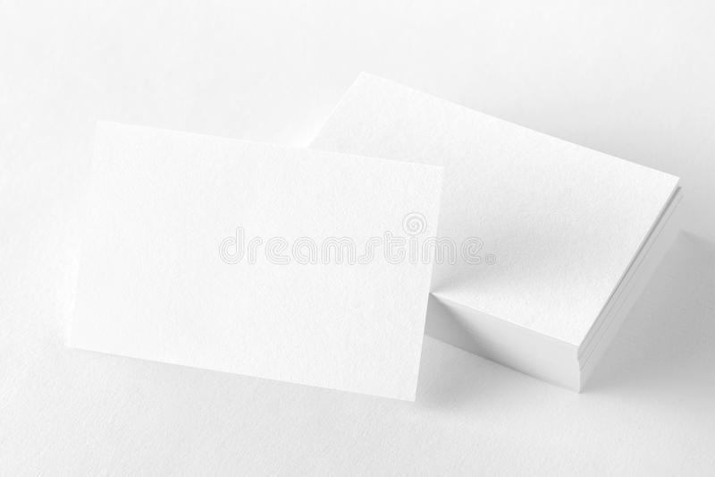 Photo des cartes de visite professionnelle de visite Calibre pour l'identité de marquage à chaud isolat photographie stock libre de droits