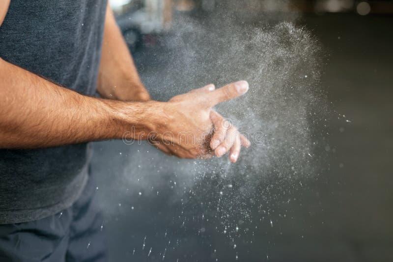 Photo des mains de forme physique image stock
