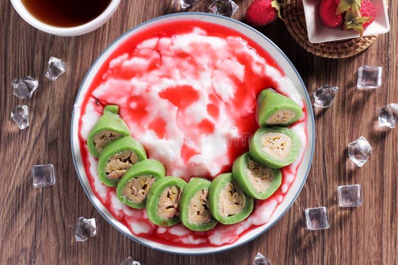 Photo Menu Dessert pisang palu from Indonesia. This Photo is about dessert menu from indonesia, we call es pisang palu butung. and good for menu book or for menu stock image