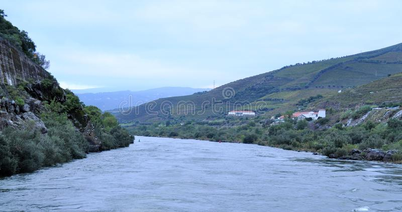 Douro river and the landscape stock photo
