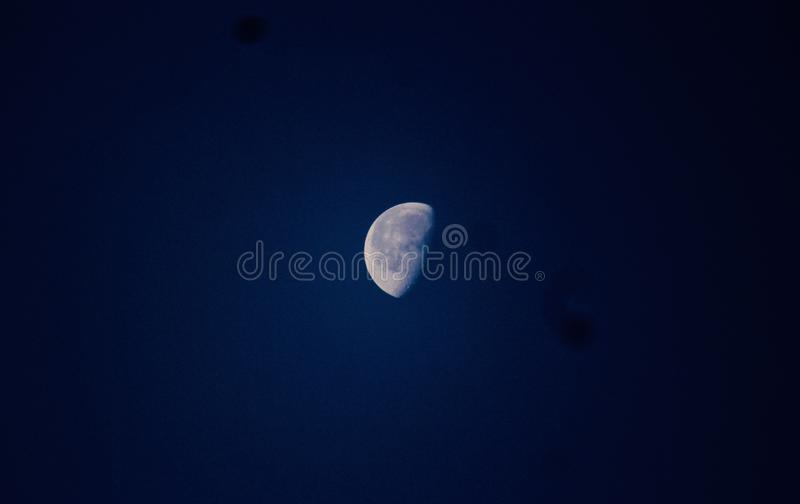 Beautiful moon in the sky royalty free stock photo