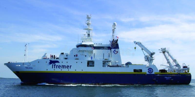 Photo du bateau IFREMER photographie stock