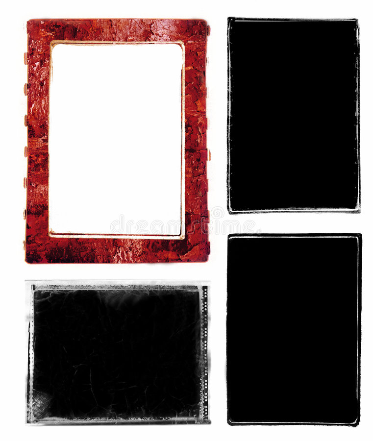 Photo edges and frames stock illustration