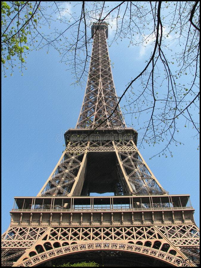 Photo of Eifel Tower with a retro filter stock image