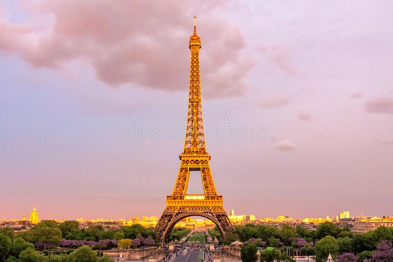Photo of Eiffel Tower stock image