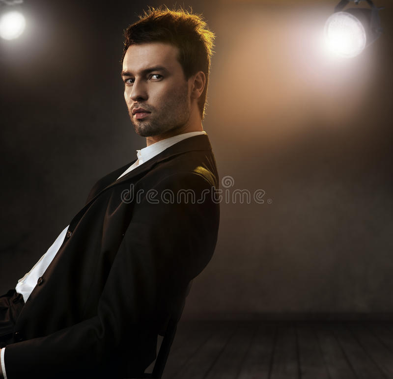 Photo of an elegant man royalty free stock photo