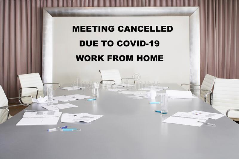 Photo of Empty meeting room royalty free stock photography