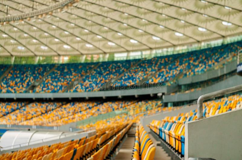 Photo of empty seats in the stadium. stock photography