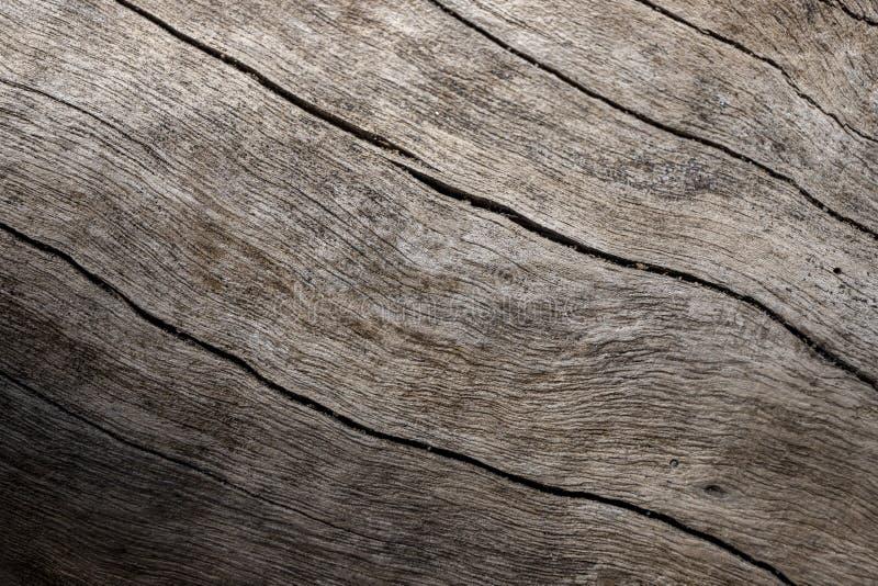 Photo en bois superficielle par les agents de plan rapproché de texture Bois de construction âgé avec les fissures superficielles photographie stock libre de droits