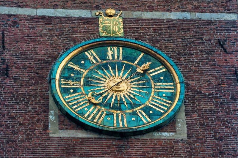 Photo en gros plan de l'horloge à la cathédrale de Wawel Cracovie, Pologne photos stock