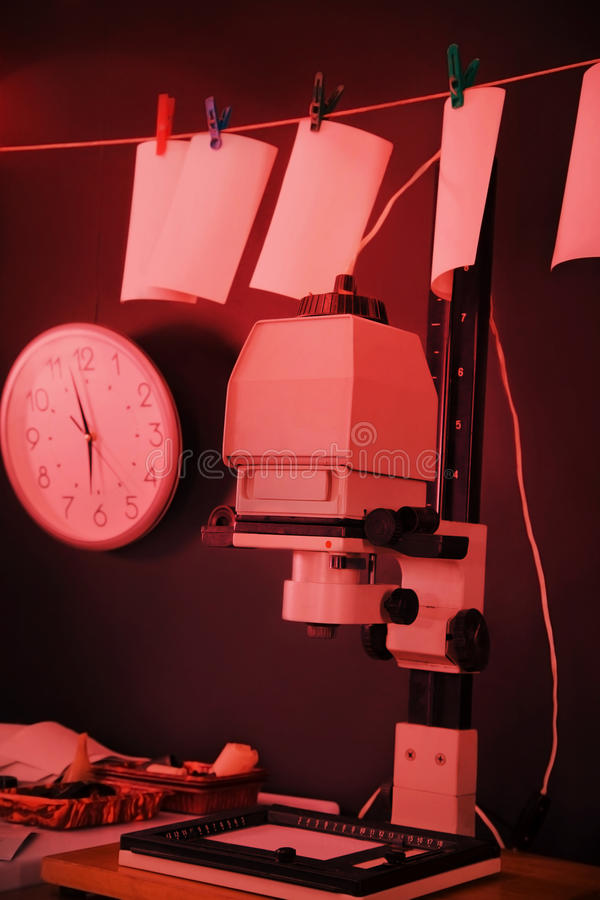 Free Photo Enlarger In A Darkroom Royalty Free Stock Photos - 67069268