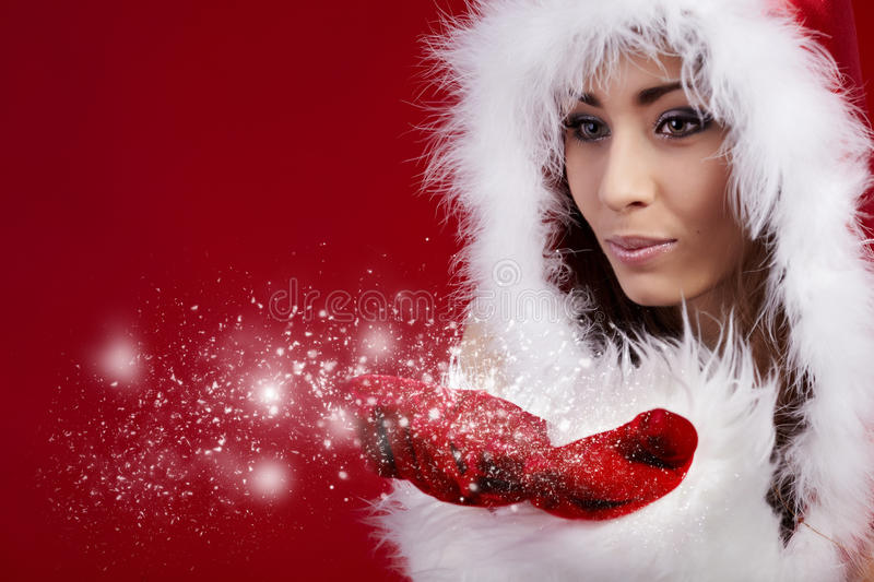 Download Photo Of Fashion Christmas Girl Stock Image - Image: 17094615