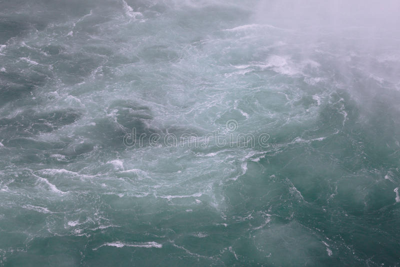 Photo of the fast water near the Niagara Falls royalty free stock photos