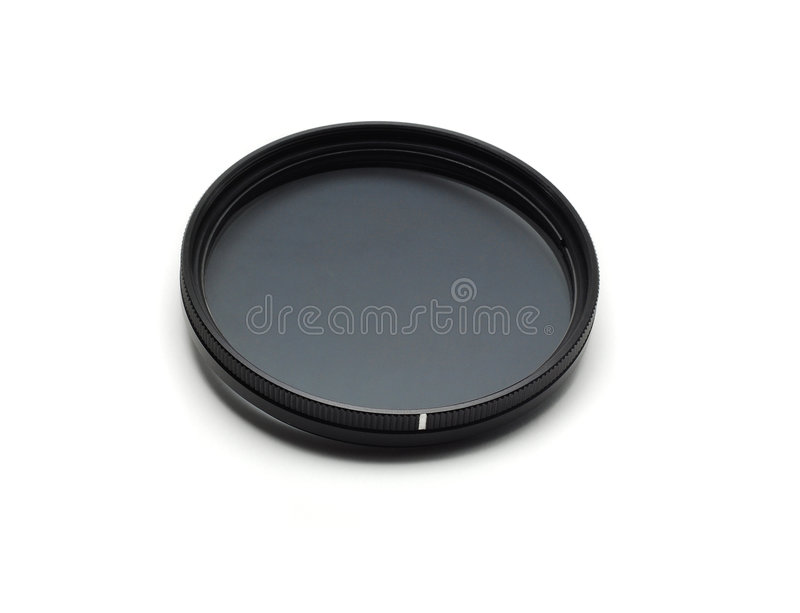 Photo filter. Filter used in photography, circular polarizer stock images