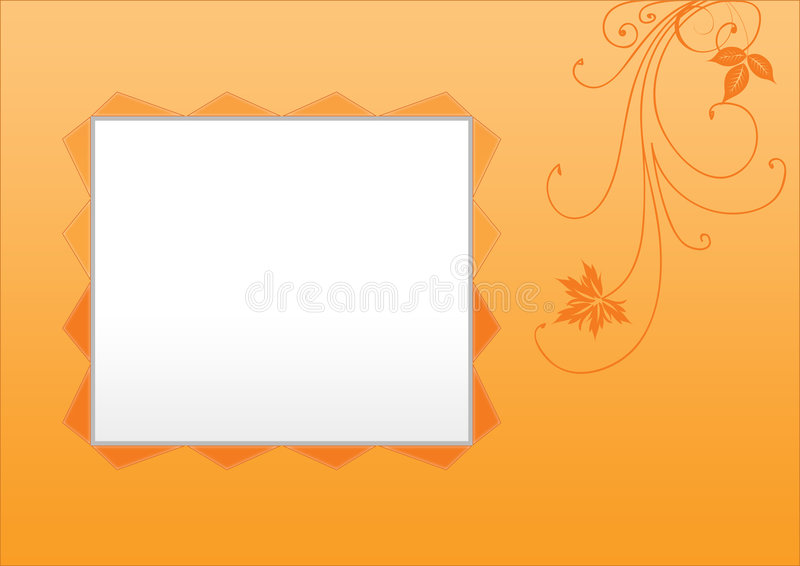 Photo floral frame vector illustration