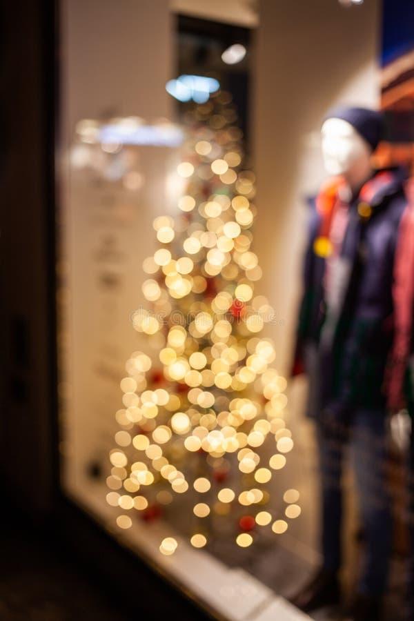 photo floue des magasins de noël image libre de droits