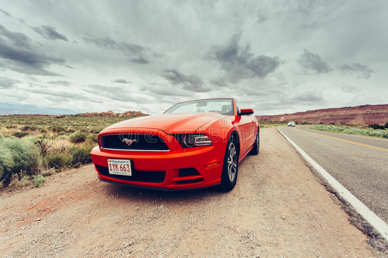 Photo of a Ford Mustang Convertible royalty free stock photo