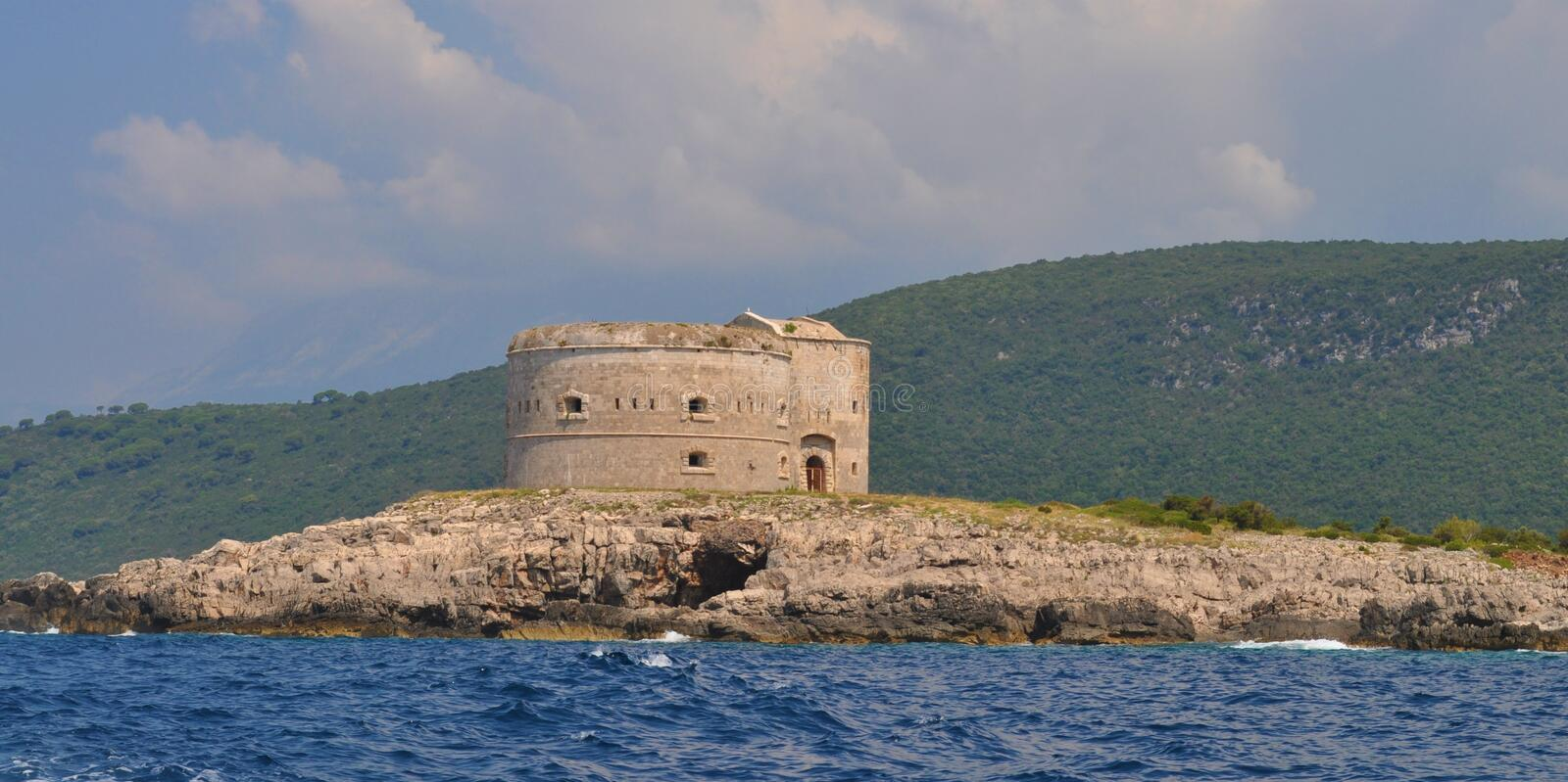 Fort Mamula - Adriatic Sea royalty free stock photo