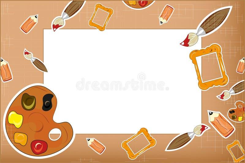 Photo frame stock illustration