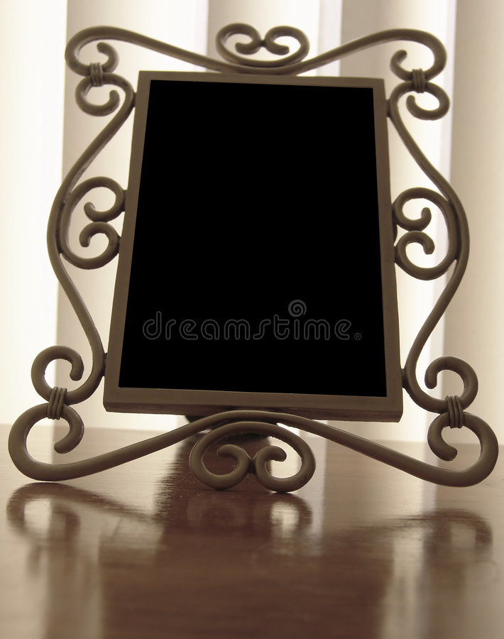 Download Photo Frame stock image. Image of romantic, desk, love, reflection - 77535