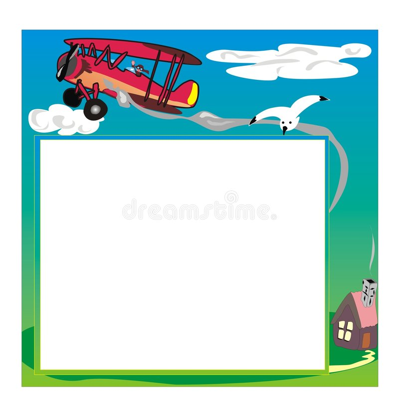 Download Photo frame with airplane stock vector. Image of bird - 5194985