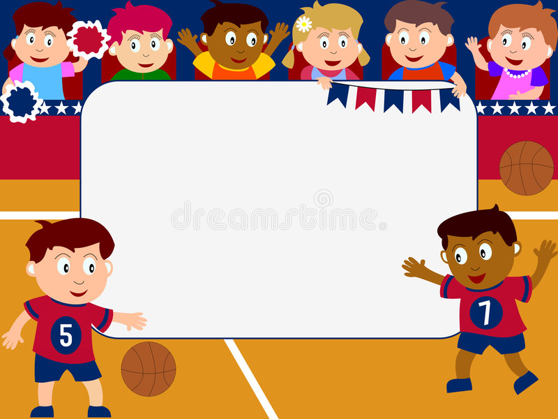 Download Photo Frame - Basketball stock illustration. Image of colors - 4342852