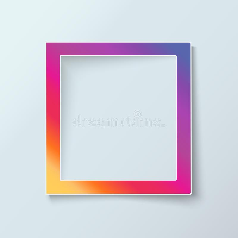 Photo frame collection realistic vector stock illustration